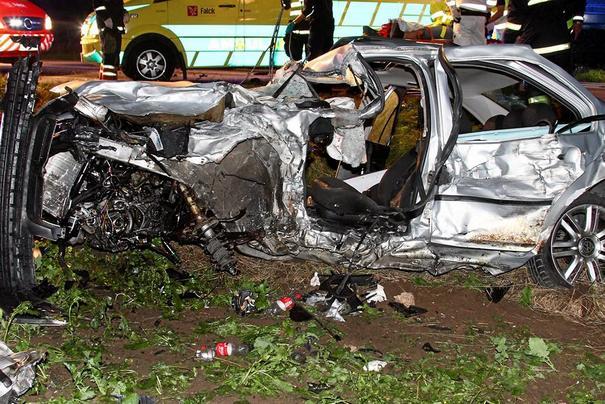 Glenn's bil efter ulykken